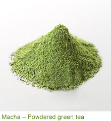 Macha-Powdered green tea